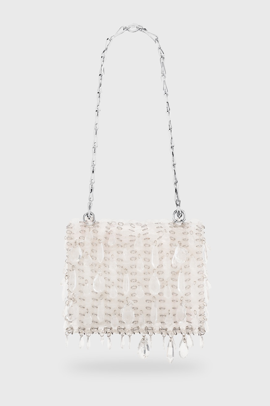 Iconic 1969 chainmail bag, transparent - Iconic 1969 chainmail bag, transparent - Paco Rabanne