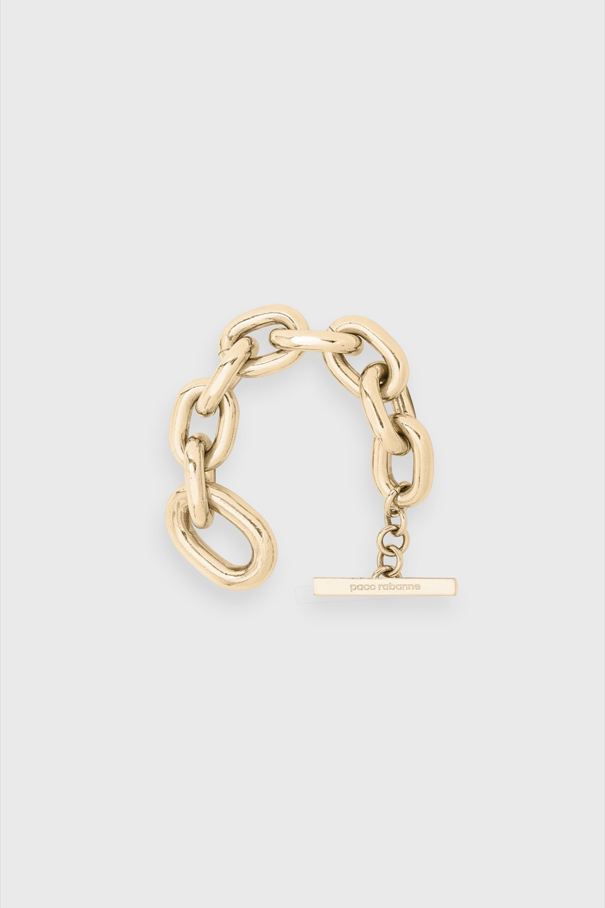 Gold-tone, iconic brass chain bracelet - Gold-tone, iconic brass chain bracelet - Paco Rabanne
