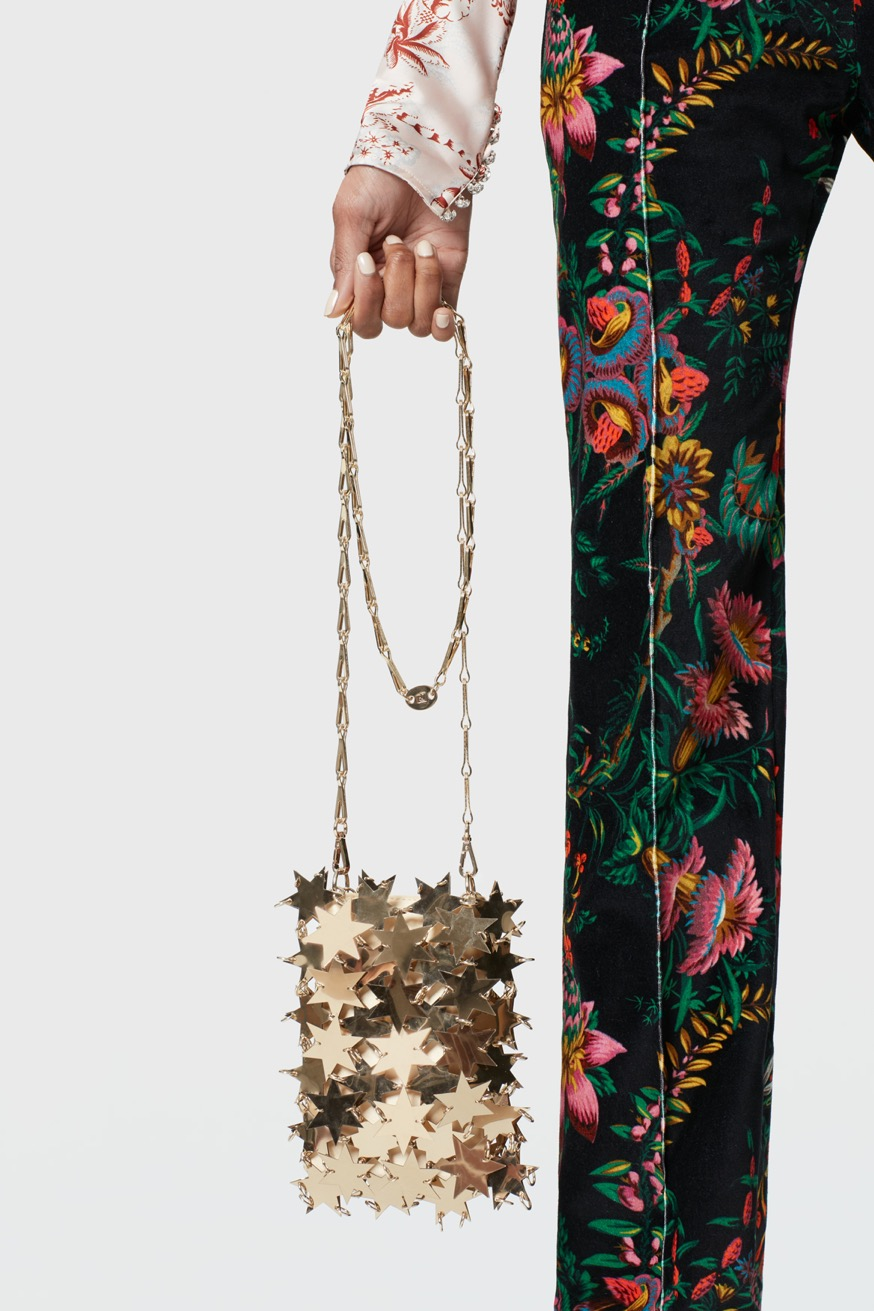 Iconic 1969 mini sparkle bag in gold - Iconic 1969 mini sparkle bag in gold - Paco Rabanne