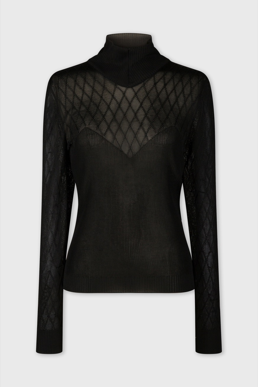 Fine pullover with high collar - Fine pullover with high collar - Paco Rabanne