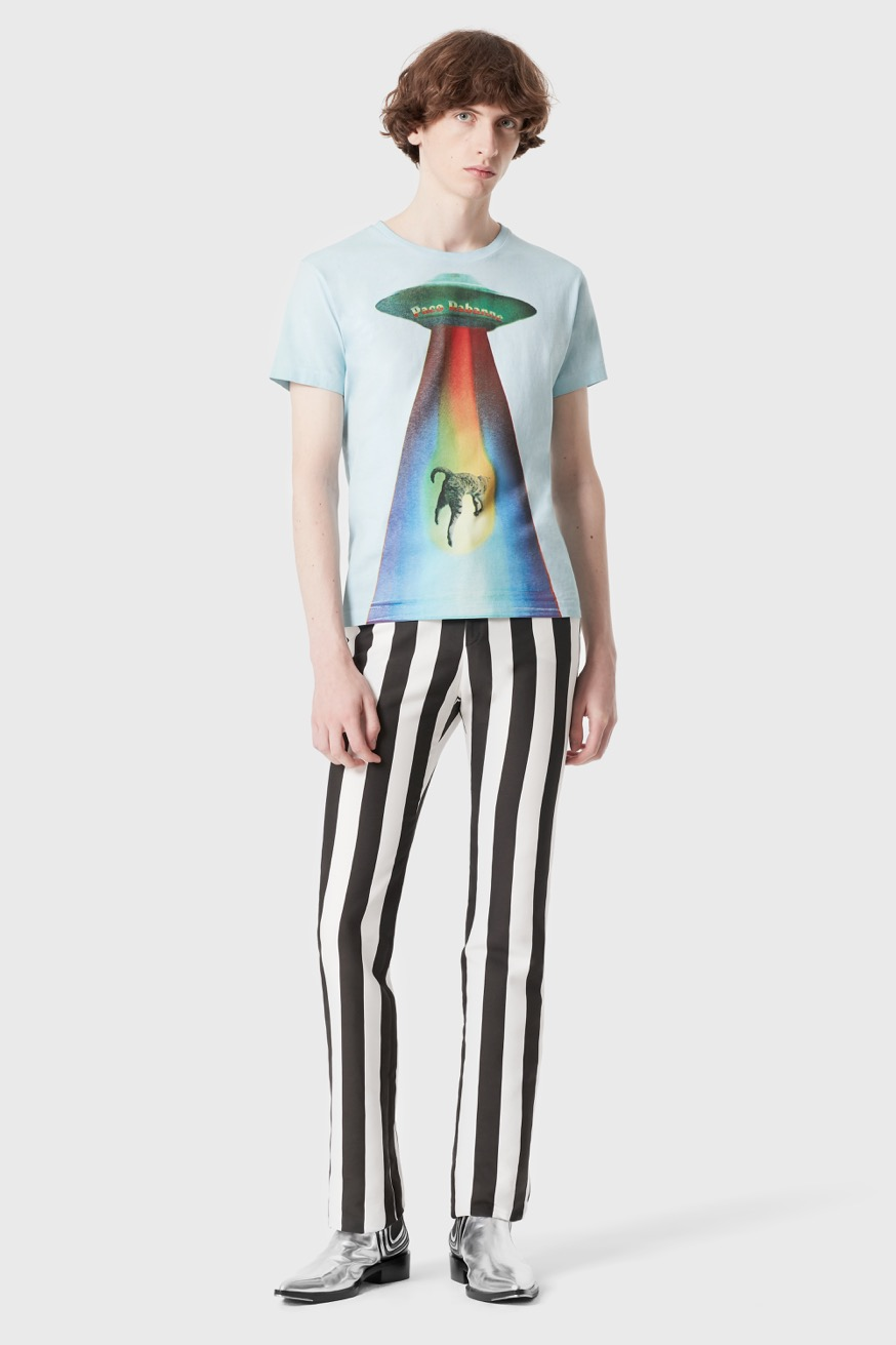 Rainbow cat printed tshirt - Rainbow cat printed tshirt - Paco Rabanne