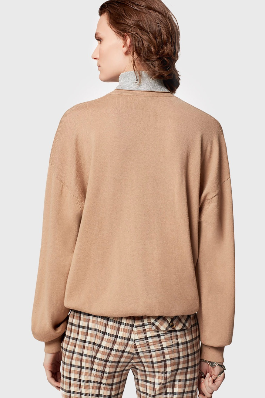 Roll neck sweater in wool and lurex. - Roll neck sweater in wool and lurex. - Paco Rabanne