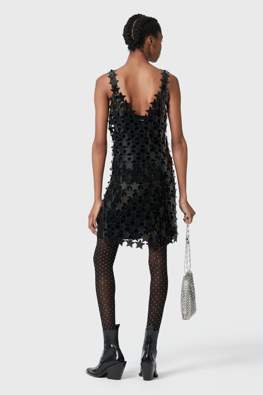 Strap mini dress in star-shaped pieces - Strap mini dress in star-shaped pieces - Paco Rabanne
