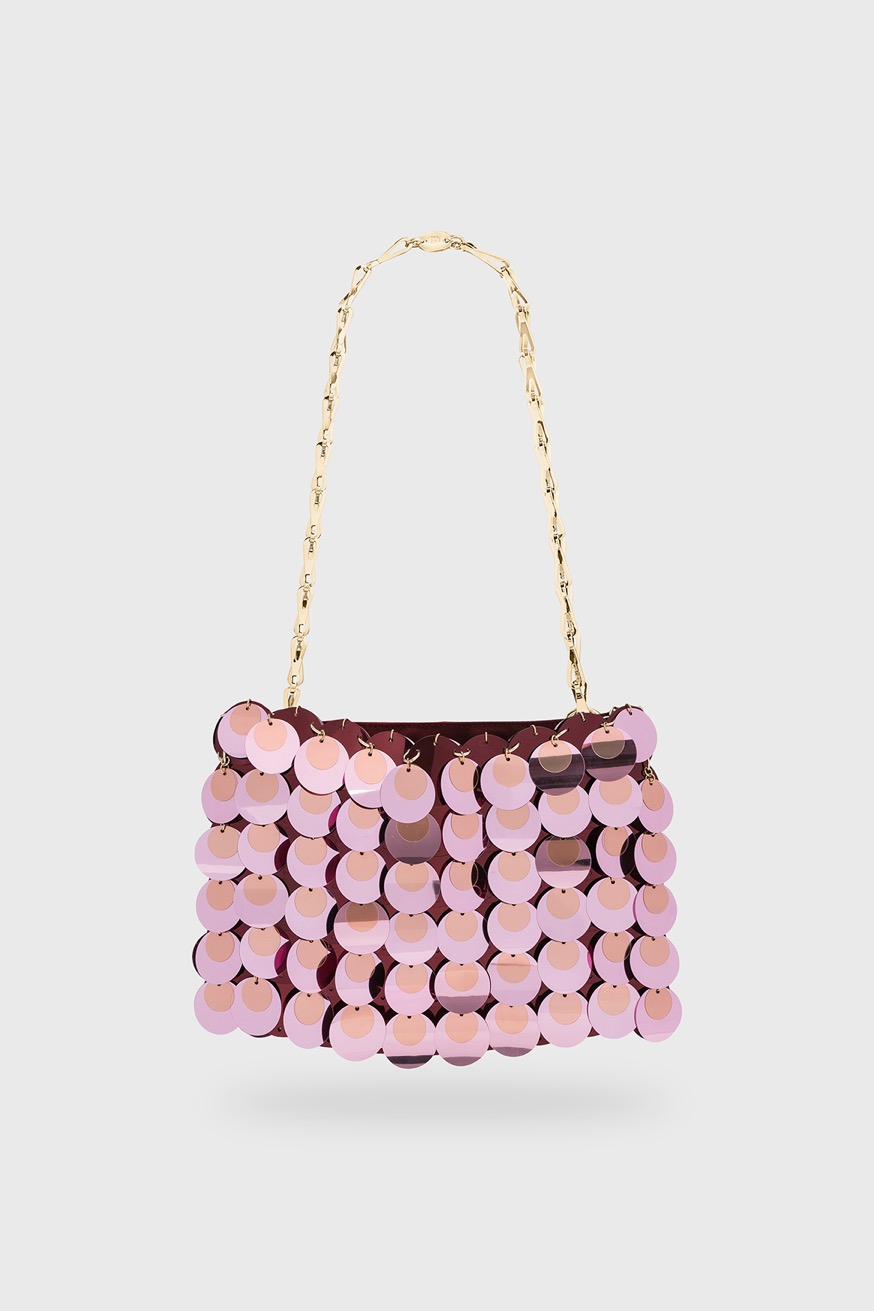 Iconic 1969 Sparkle pink bag - Iconic 1969 Sparkle pink bag - Paco Rabanne