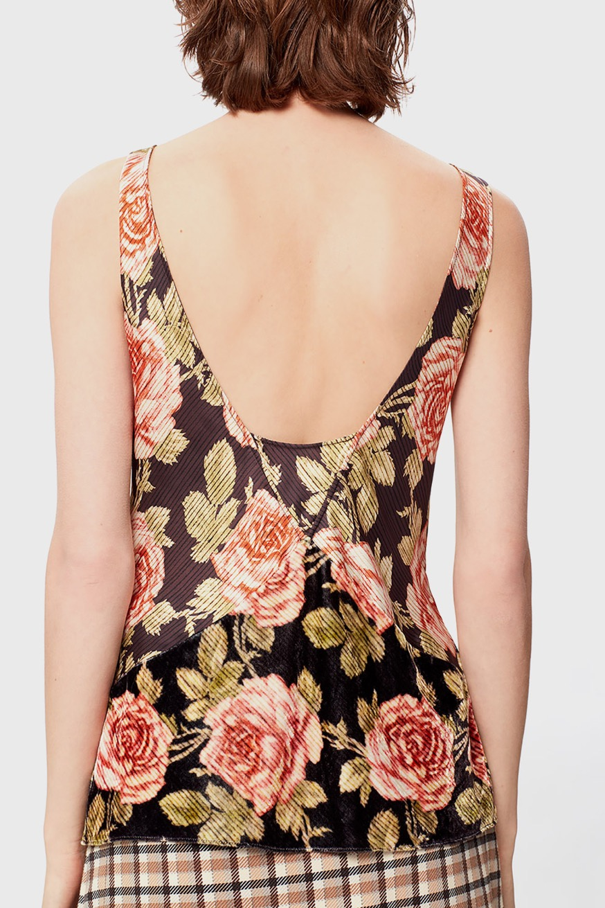 Printed satin tank top - Printed satin tank top - Paco Rabanne