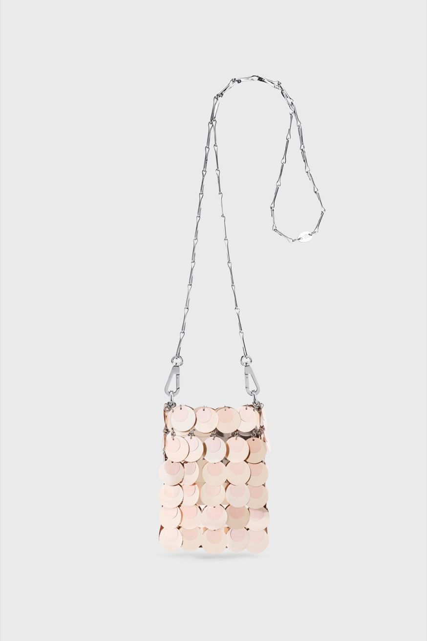Sac 1969 mini sparkle rose champagne - Iconic Mini Bag 1969 Sparkle pink champagne - Paco Rabanne