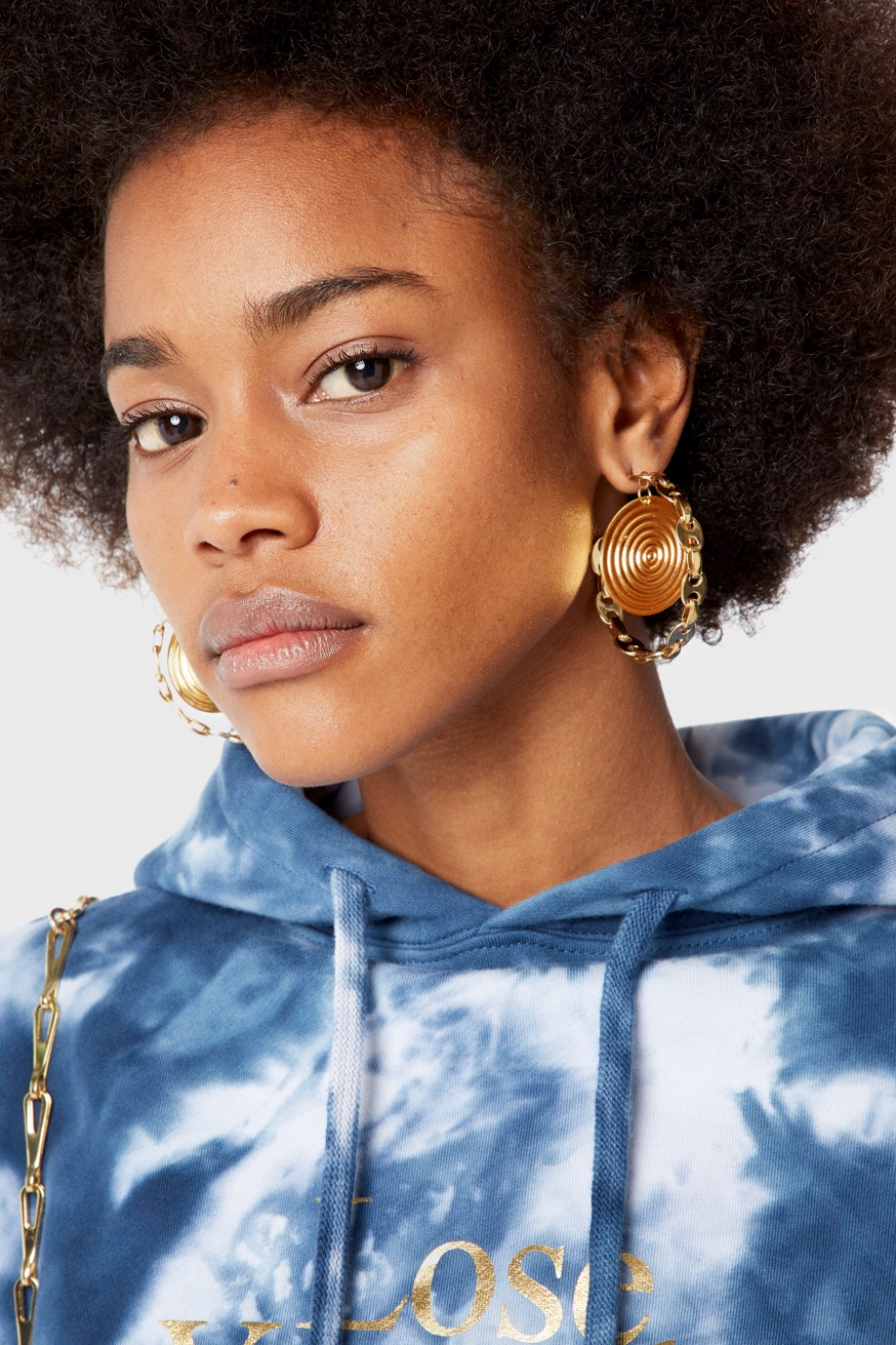 Eight Nano Medallion Hoops in Gold-Plated Brass - Eight Nano Medallion Hoops in Gold-Plated Brass - Paco Rabanne