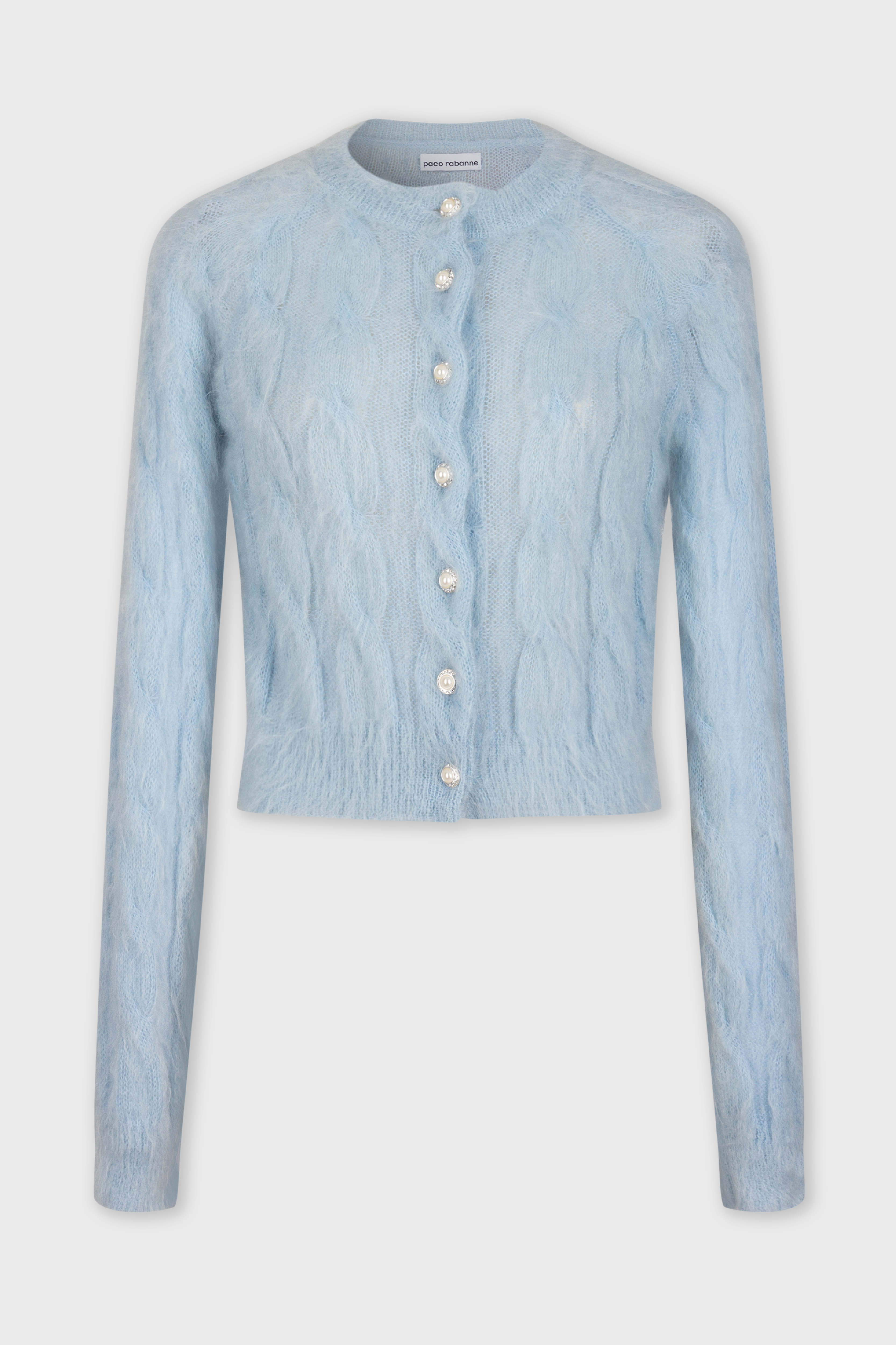 Cable-Knit Cardigan - Cable-Knit Cardigan - Paco Rabanne