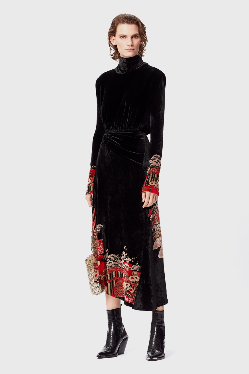 Velvet mid-length dress - Velvet mid-length dress - Paco Rabanne