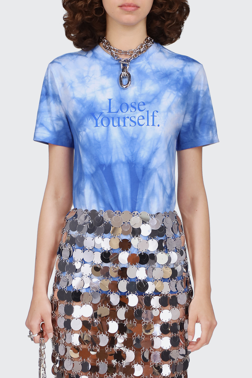 """""""Lose Yourself"""" blue t-shirt - """"Lose Yourself"""" blue t-shirt - Paco Rabanne"""