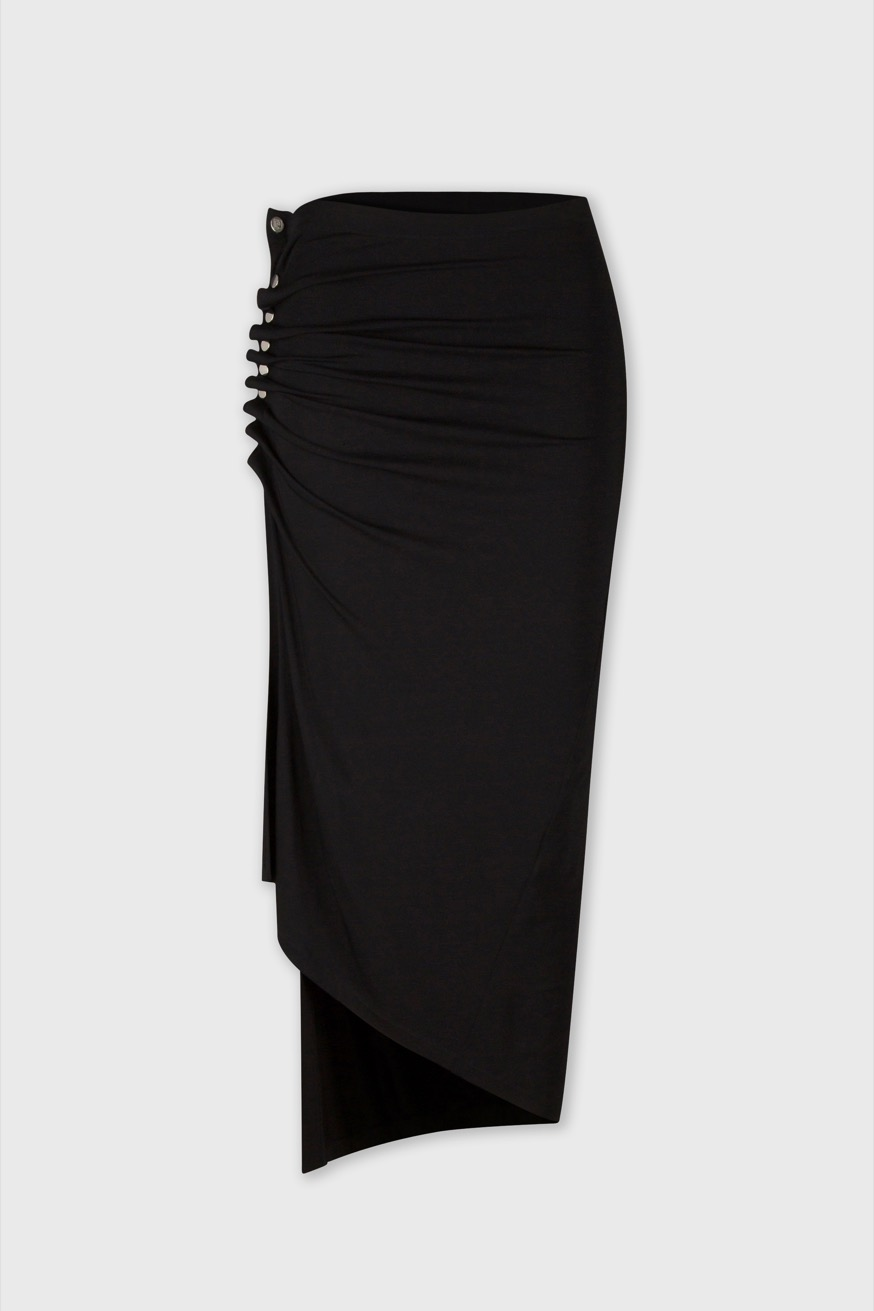 Black wrap skirt in jersey - Black wrap skirt in jersey - Paco Rabanne