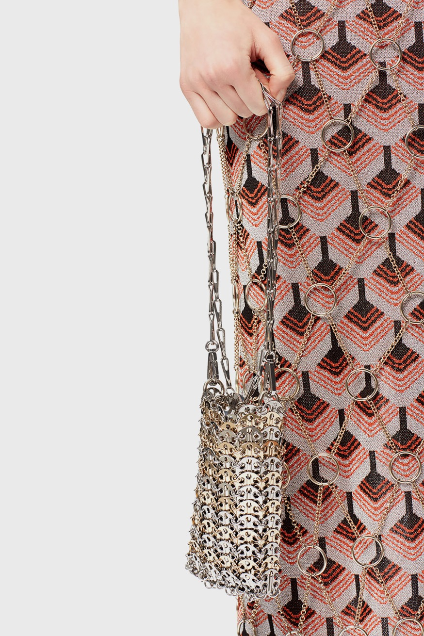 Mini Iconic 1969 two-tone bag in gold and silver - Mini Iconic 1969 two-tone bag in gold and silver - Paco Rabanne