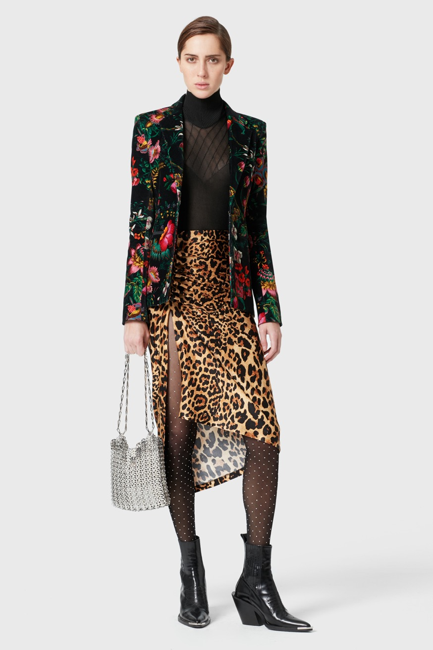 Draped skirt in printed jersey - Draped skirt in printed jersey - Paco Rabanne