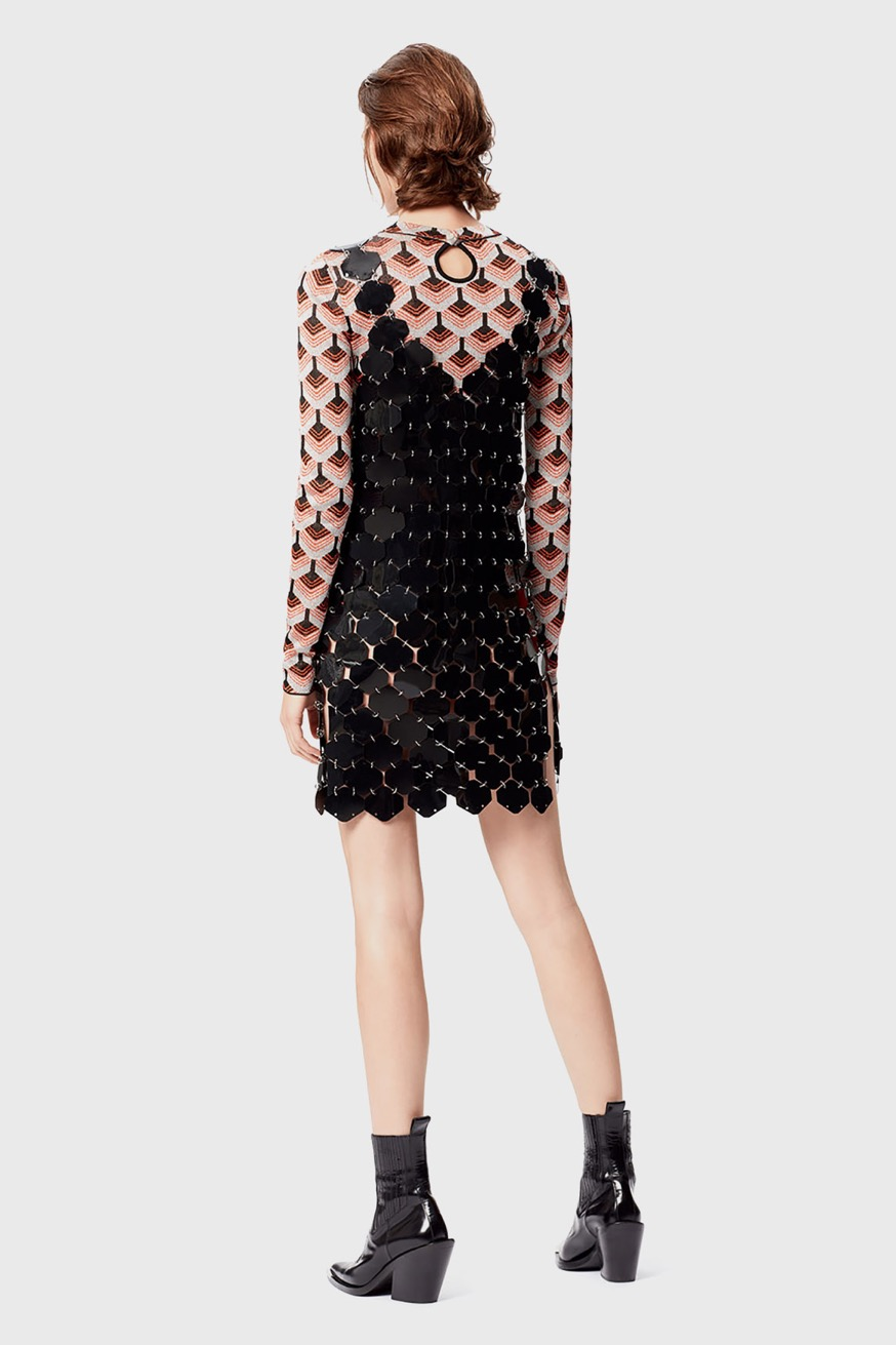 Mini dress made from hexagonal pieces - Mini dress made from hexagonal pieces - Paco Rabanne