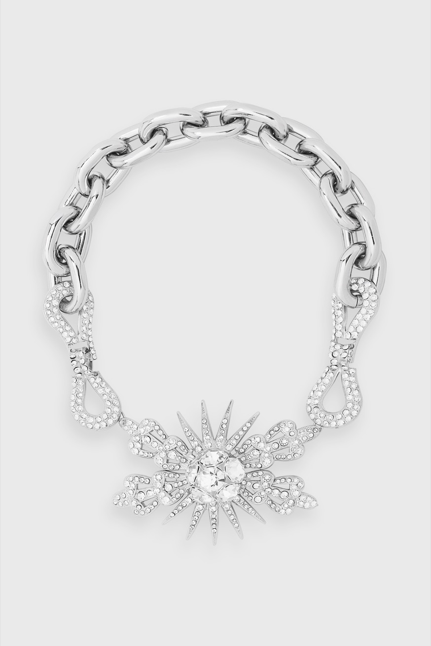Sunray choker necklace in metal and rhinestones - Sunray choker necklace in metal and rhinestones - Paco Rabanne