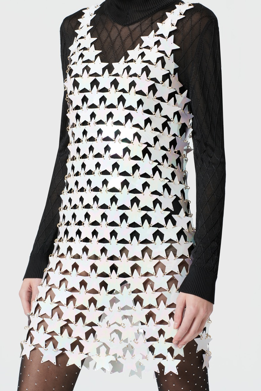 Short evening dress featuring star-shaped pieces - Short evening dress featuring star-shaped pieces - Paco Rabanne