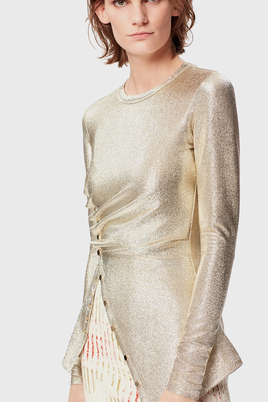 Draped top in lurex jersey - Draped top in lurex jersey - Paco Rabanne