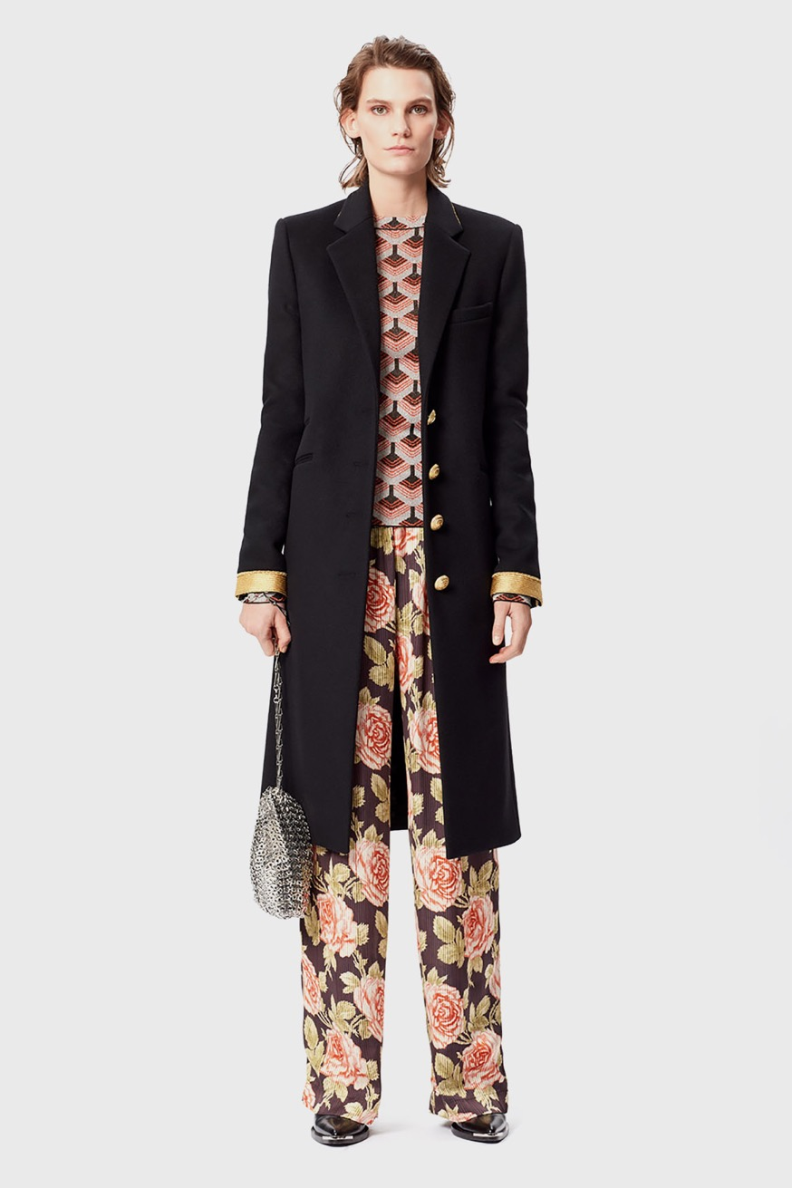 Wide-legged satin trousers with floral print - Wide-legged satin trousers with floral print - Paco Rabanne