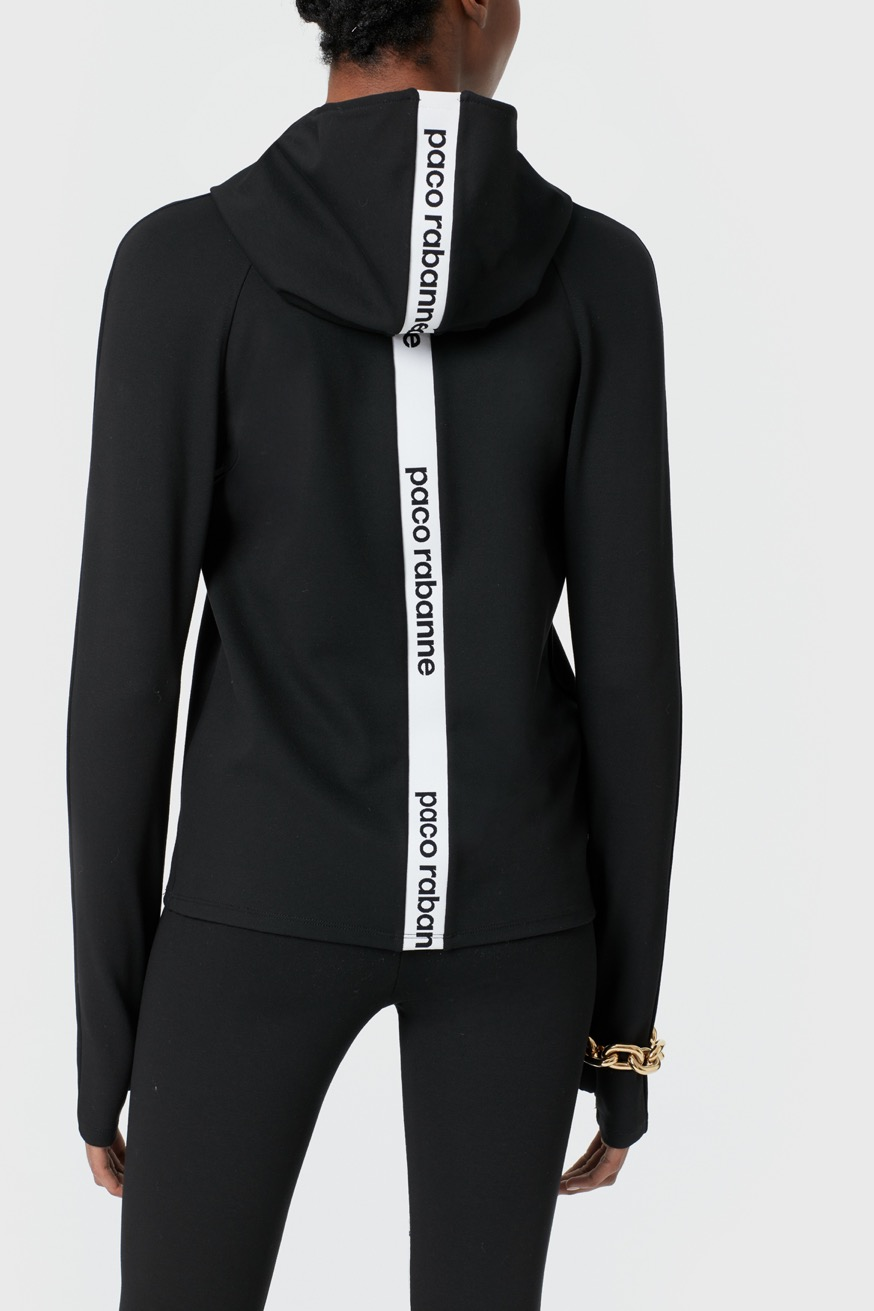Bodyline jersey hooded sweatshirt - Bodyline jersey hooded sweatshirt - Paco Rabanne