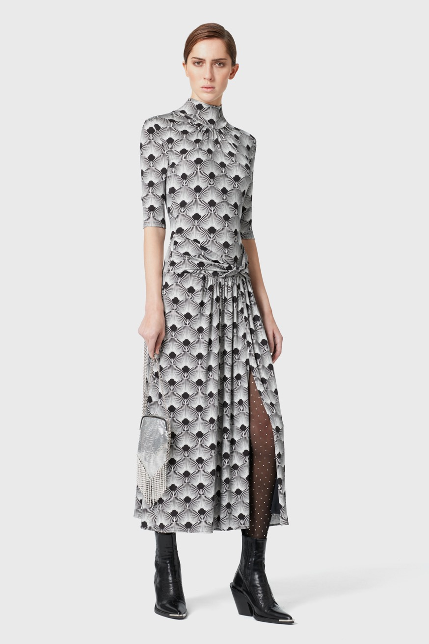 Printed long jersey dress - Printed long jersey dress - Paco Rabanne