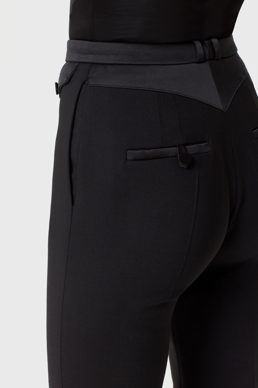 High-waisted tailored trouser in black wool  - High-waisted tailored trouser in black wool  - Paco Rabanne