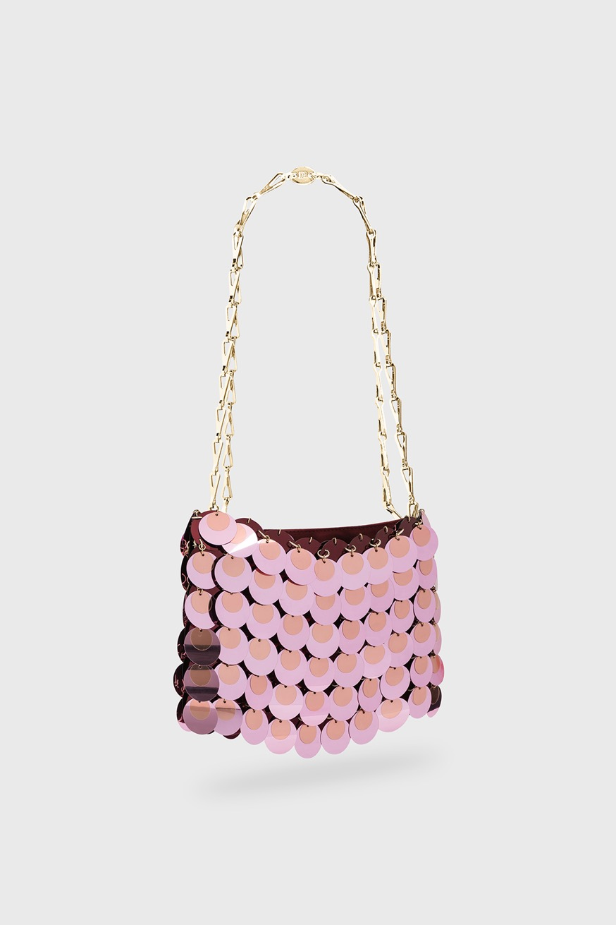 Sac Iconic 1969 Sparkle rose - Sac Iconic 1969 Sparkle rose - Paco Rabanne