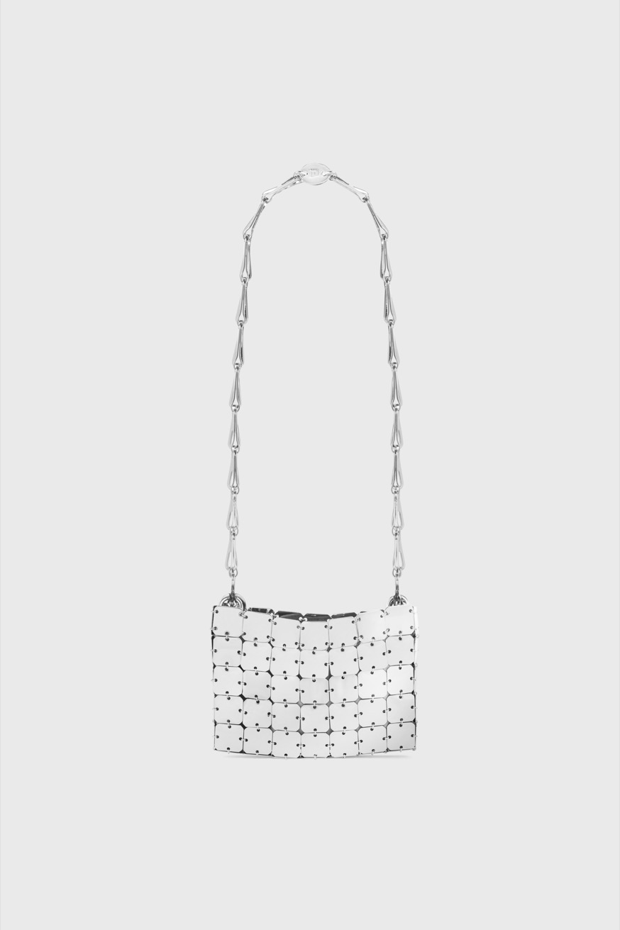 Iconic 1969 mini square silver handbag - Iconic 1969 mini square silver handbag - Paco Rabanne