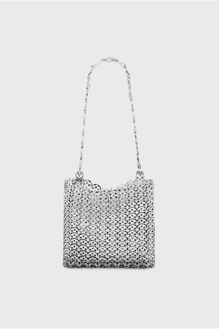 Iconic 1969 Bag silver  - Iconic 1969 Bag silver  - Paco Rabanne