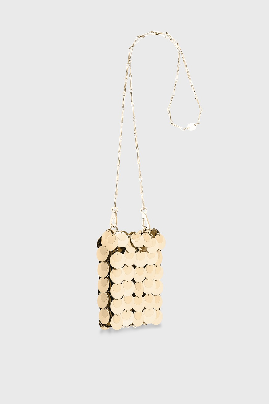 Iconic 1969 Mini Bag: gold sparkle - Iconic 1969 Mini Bag: gold sparkle - Paco Rabanne