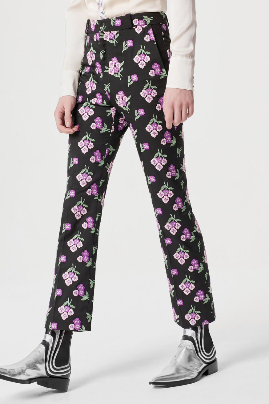 Embroidered bouquet trouser - Embroidered bouquet trouser - Paco Rabanne