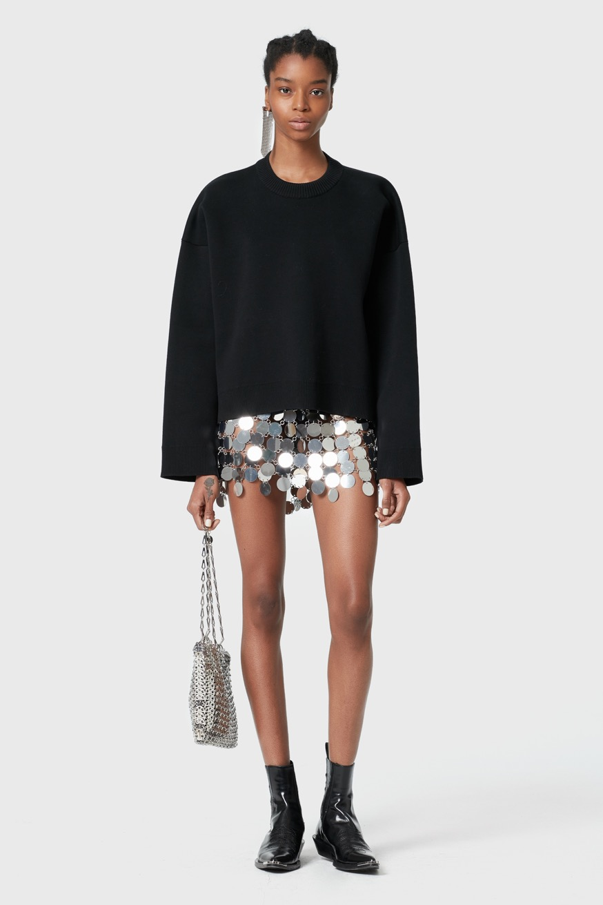 Cotton oversized zipped jumper - Cotton oversized zipped jumper - Paco Rabanne