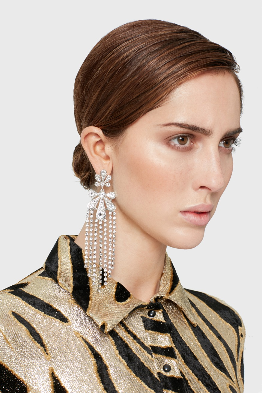 Palm earrings in silver plated metal - Palm earrings in silver plated metal - Paco Rabanne