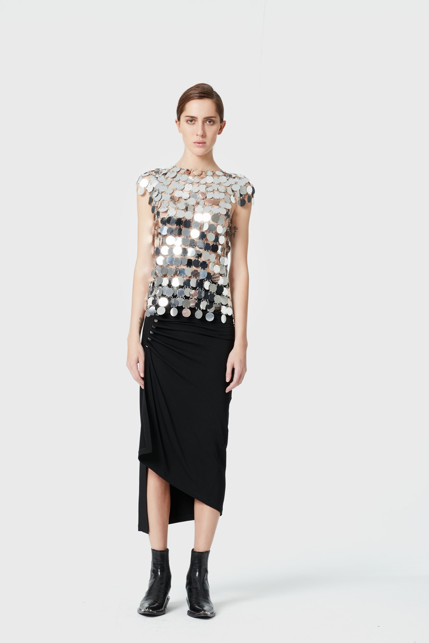 Top without sleeve -  Sparkle top without sleeve - Paco Rabanne