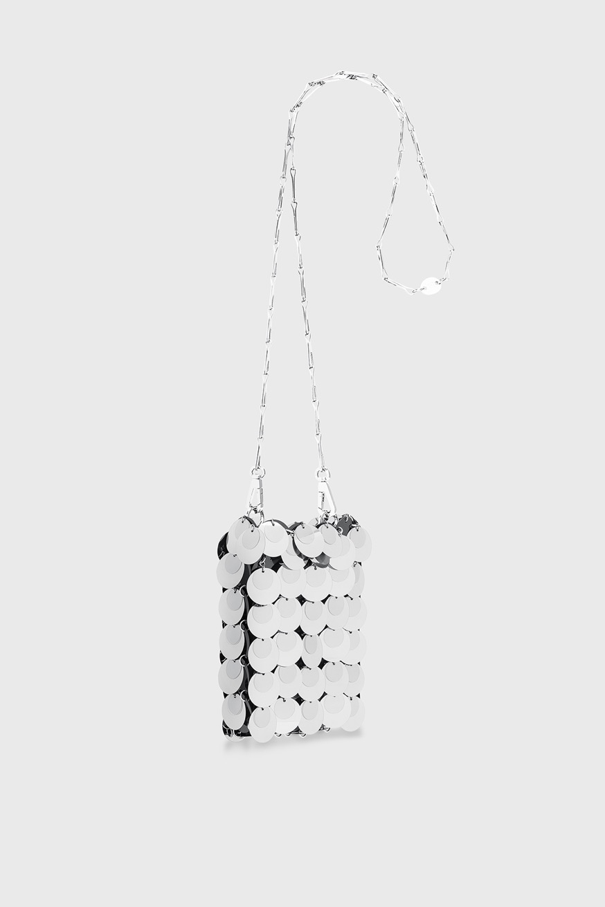Iconic1969 Mini Bag silver sparkle - Iconic1969 Mini Bag silver sparkle - Paco Rabanne