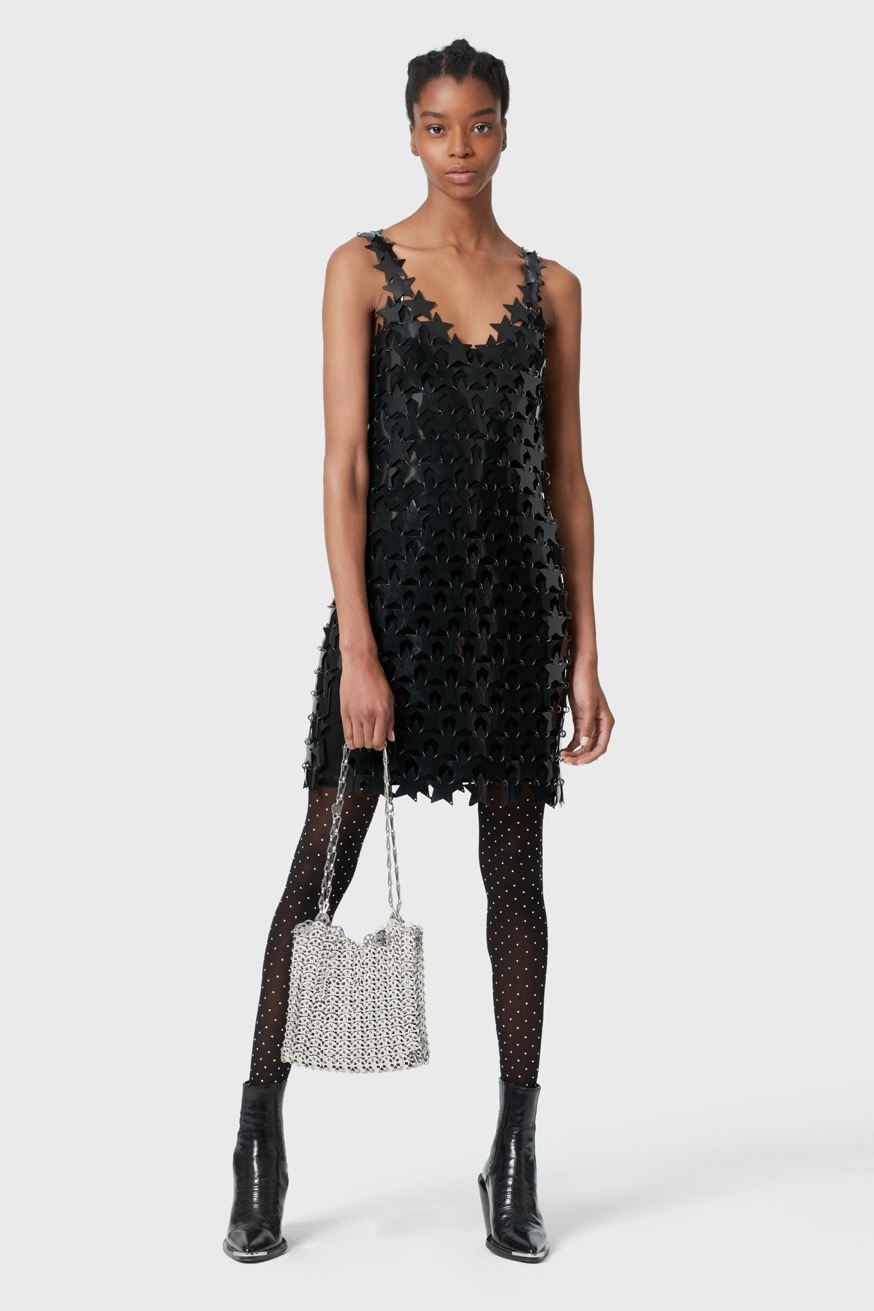 Mini dress made from star pieces. - Mini dress made from star pieces. - Paco Rabanne