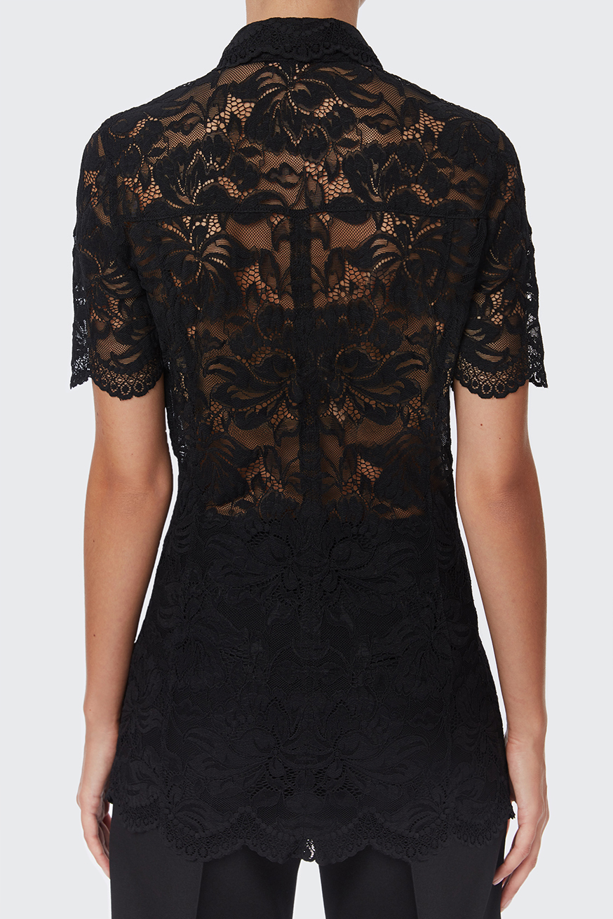 Shirt in black lace - Shirt in black lace - Paco Rabanne