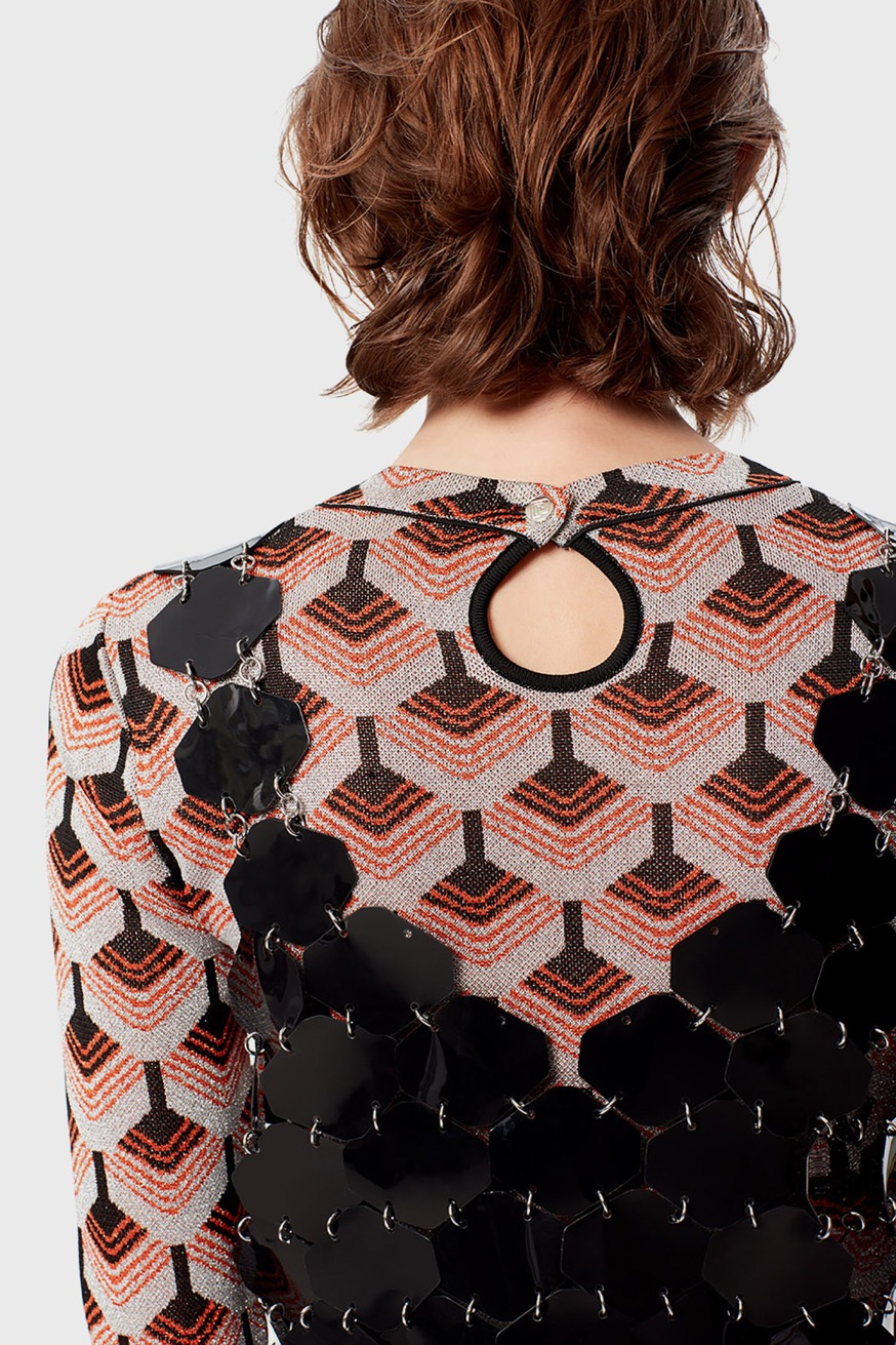 Black top with hexagonal construction - Black top with hexagonal construction - Paco Rabanne