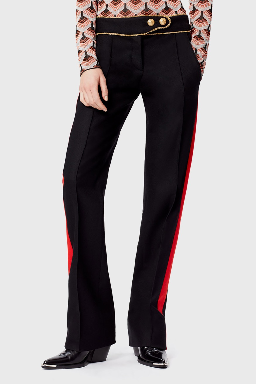 Straight leg trousers in wool - Straight leg trousers in wool - Paco Rabanne