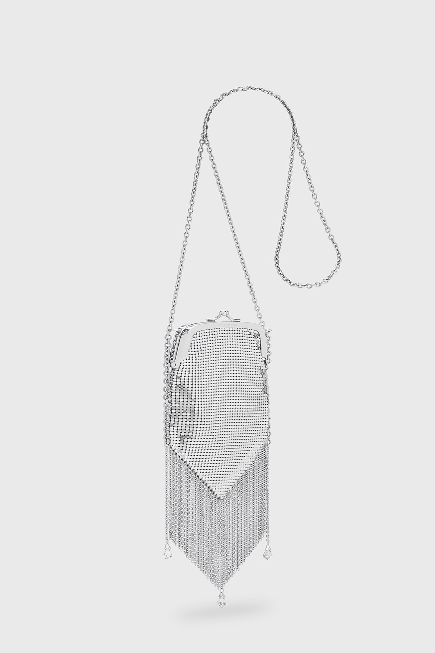 Minaudiere bag with silver pampilles - Minaudiere bag with silver pampilles - Paco Rabanne